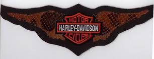 Harley Davidson Brown Snakeskin back patch